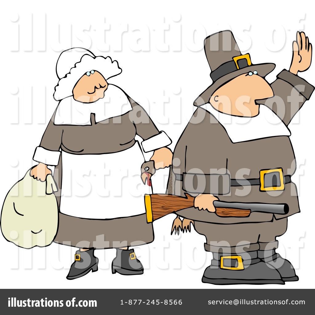 Pilgrim Clipart #4924 - Illustration by Dennis Cox