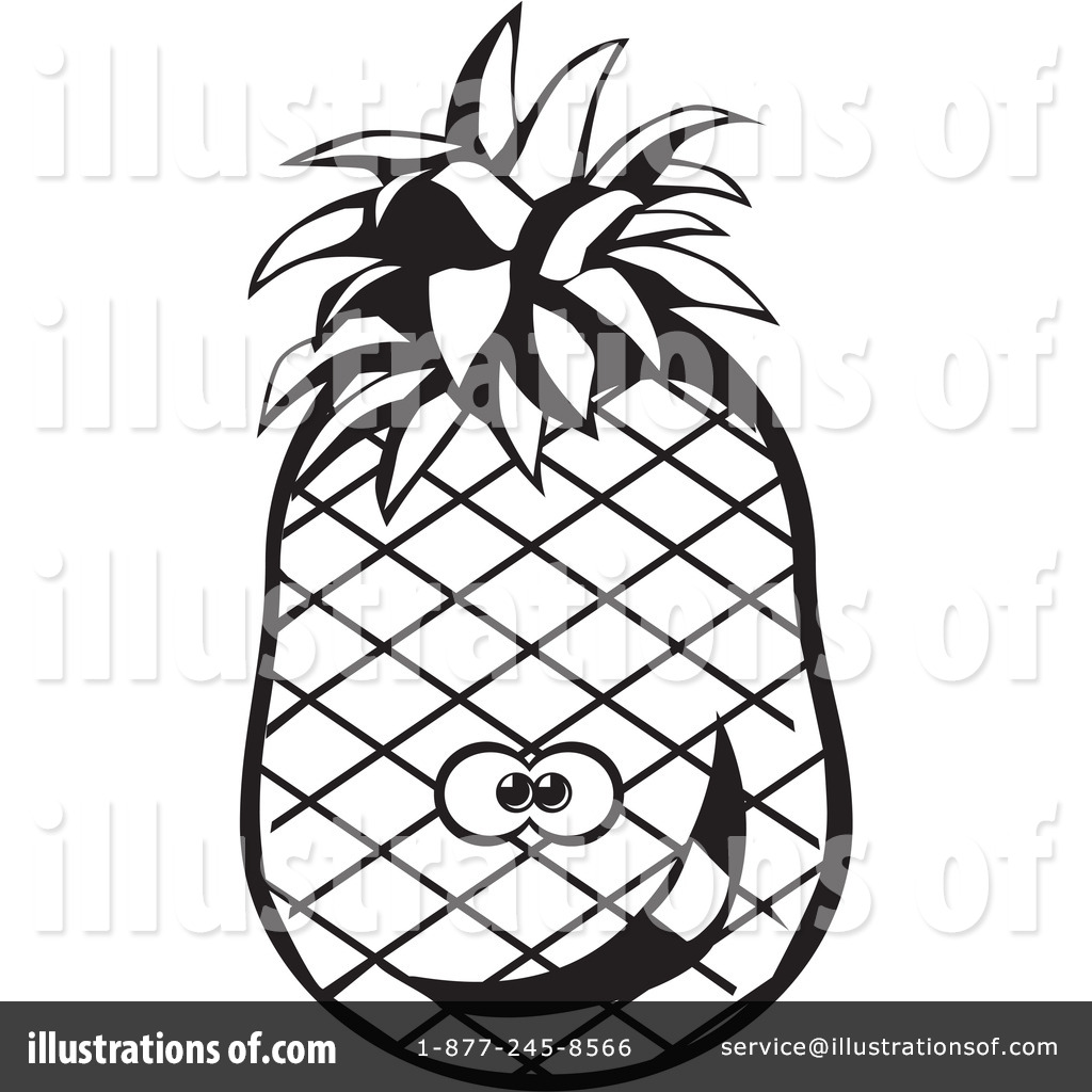 Pineapple Clipart #26461 - Illustration by David Rey for Clipart Pineapple Black And White  55jwn