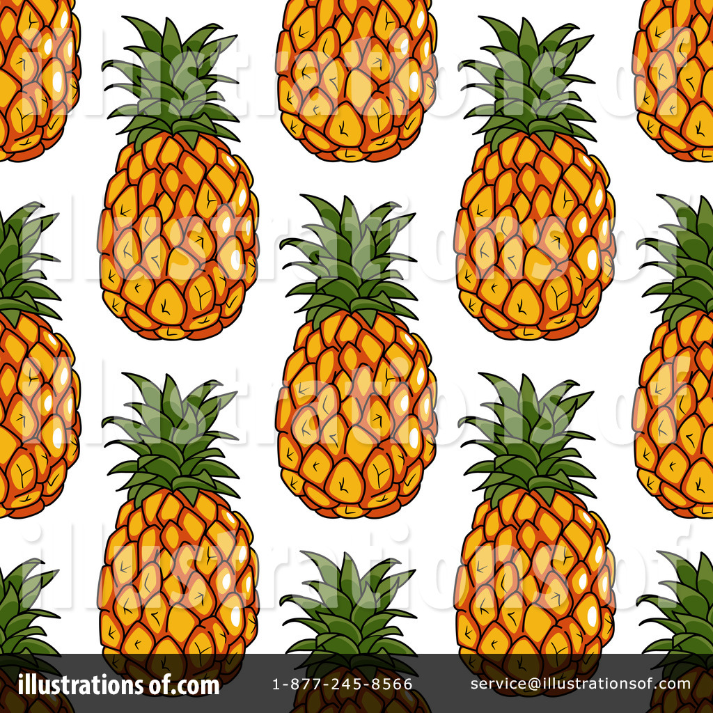 Pineapple Clipart #1230456 - Illustration by Vector ...