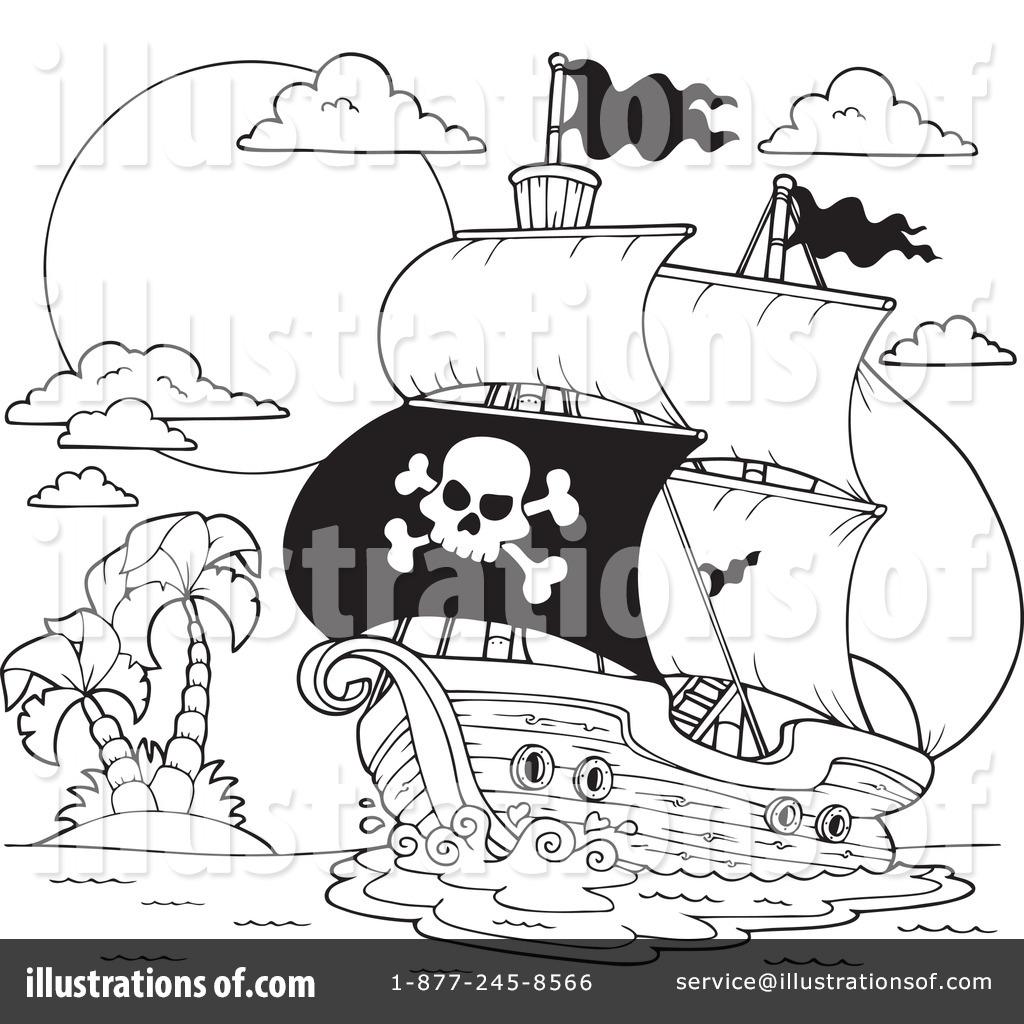 Pirate Ship Clipart #1100769 - Illustration by visekart