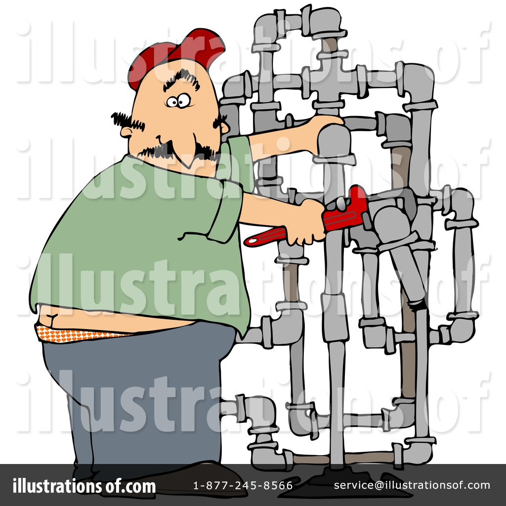Plumber Clipart #24646 - Illustration by Dennis Cox