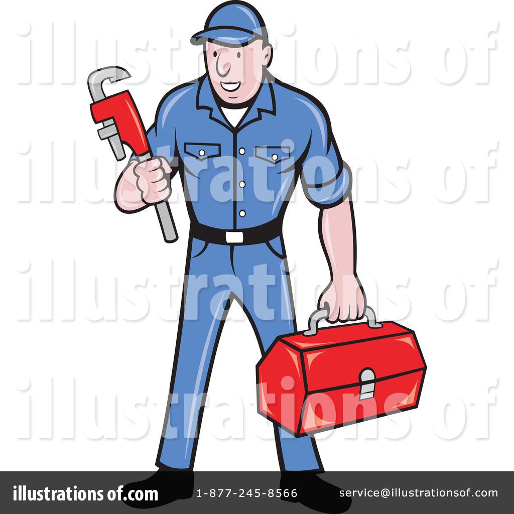 Plumber Clipart #1068554 - Illustration by patrimonio