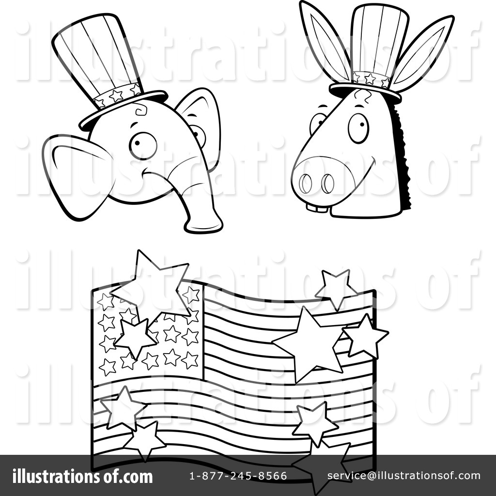 coloring pages for democratic party - photo#23