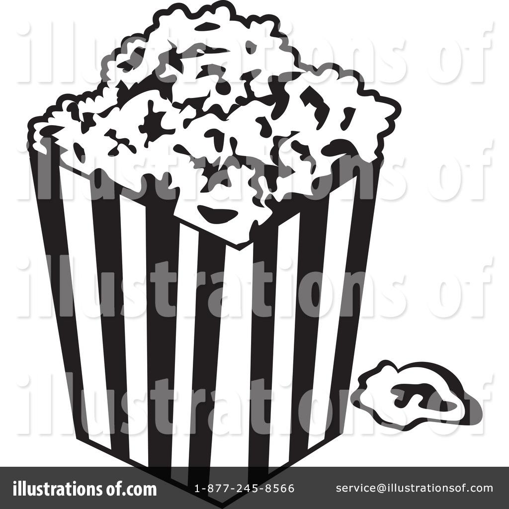 free popcorn clipart black and white - photo #50