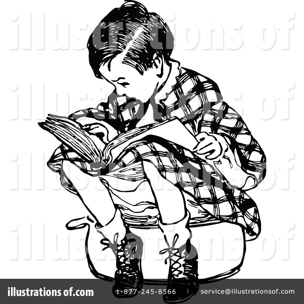 Reading Clipart #1115309 - Illustration by Prawny Vintage