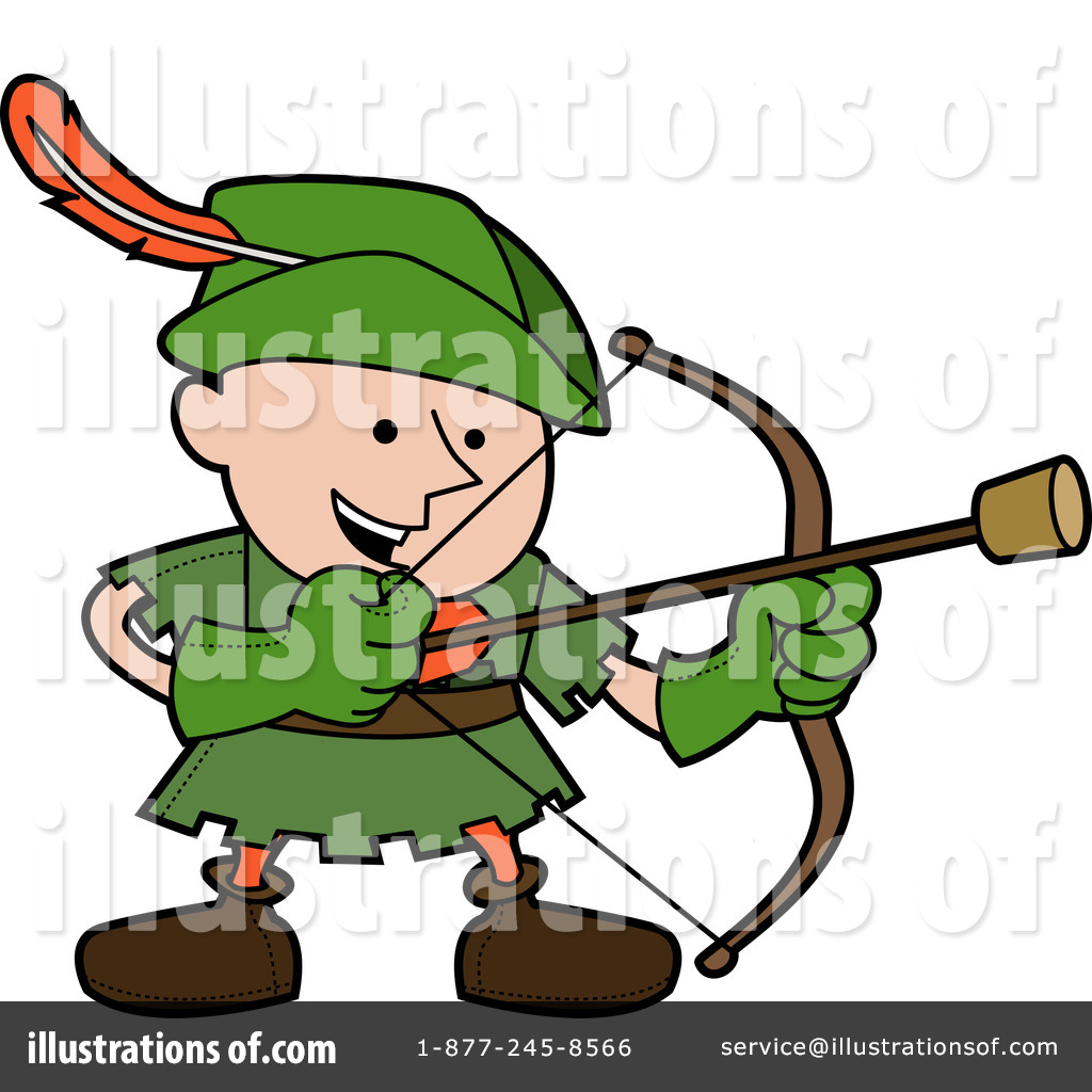 Cartoon Characters Hood : Robin hood clipart illustration by