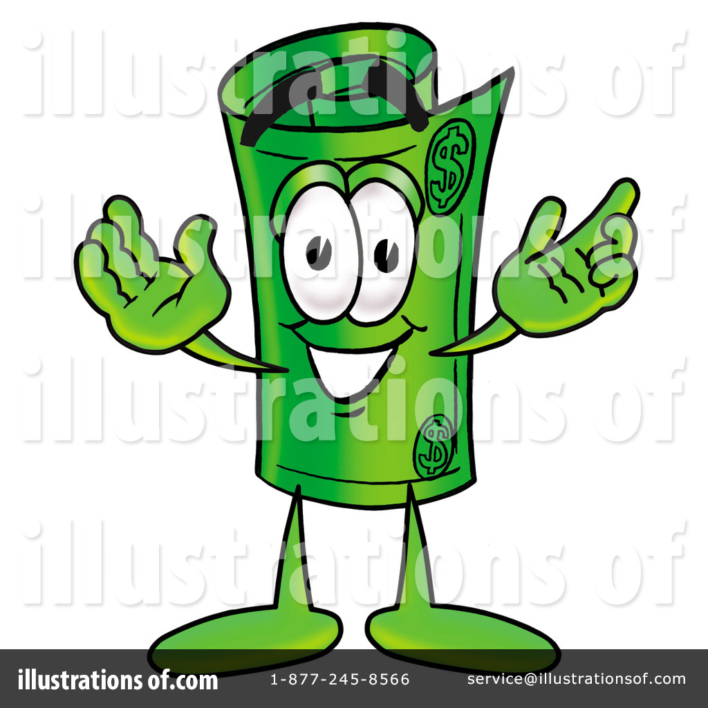 rolled money clipart  9452