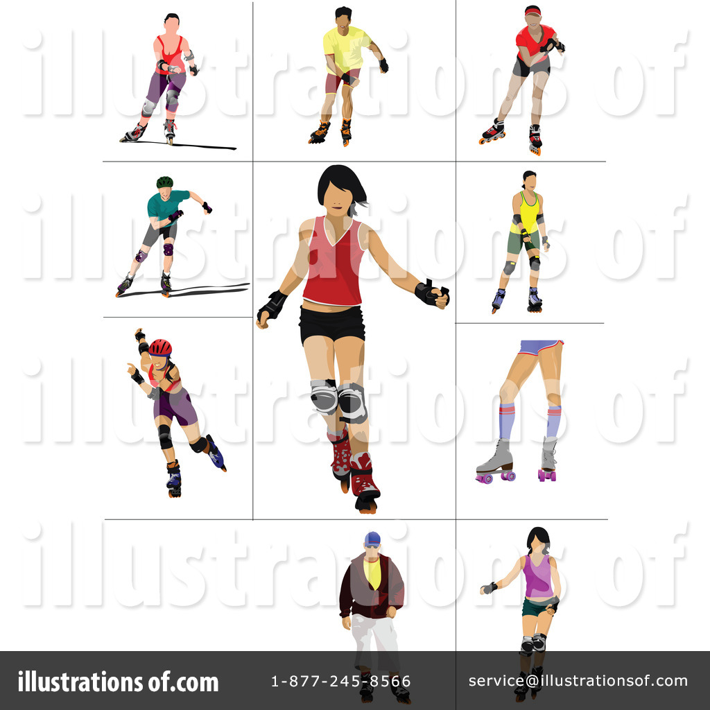 Roller Skating Clipart #1108589 - Illustration by leonid