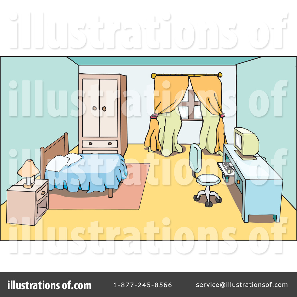Royalty Free RF Room Clipart Illustration 31631 By PlatyPlus Art