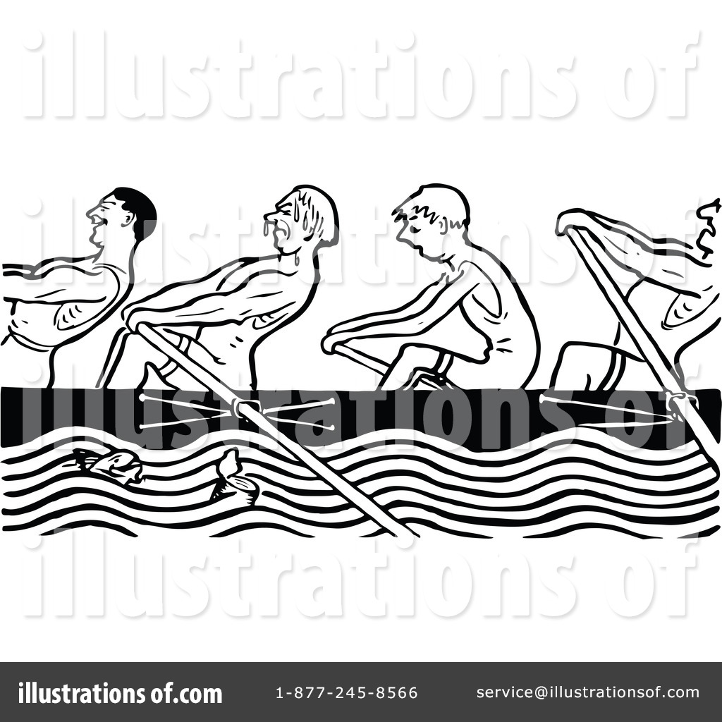 Team Rowing Clipart Royalty Free rf Rowing Team