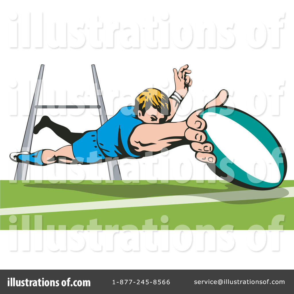 Rugby Clipart #1145693 - Illustration by patrimonio