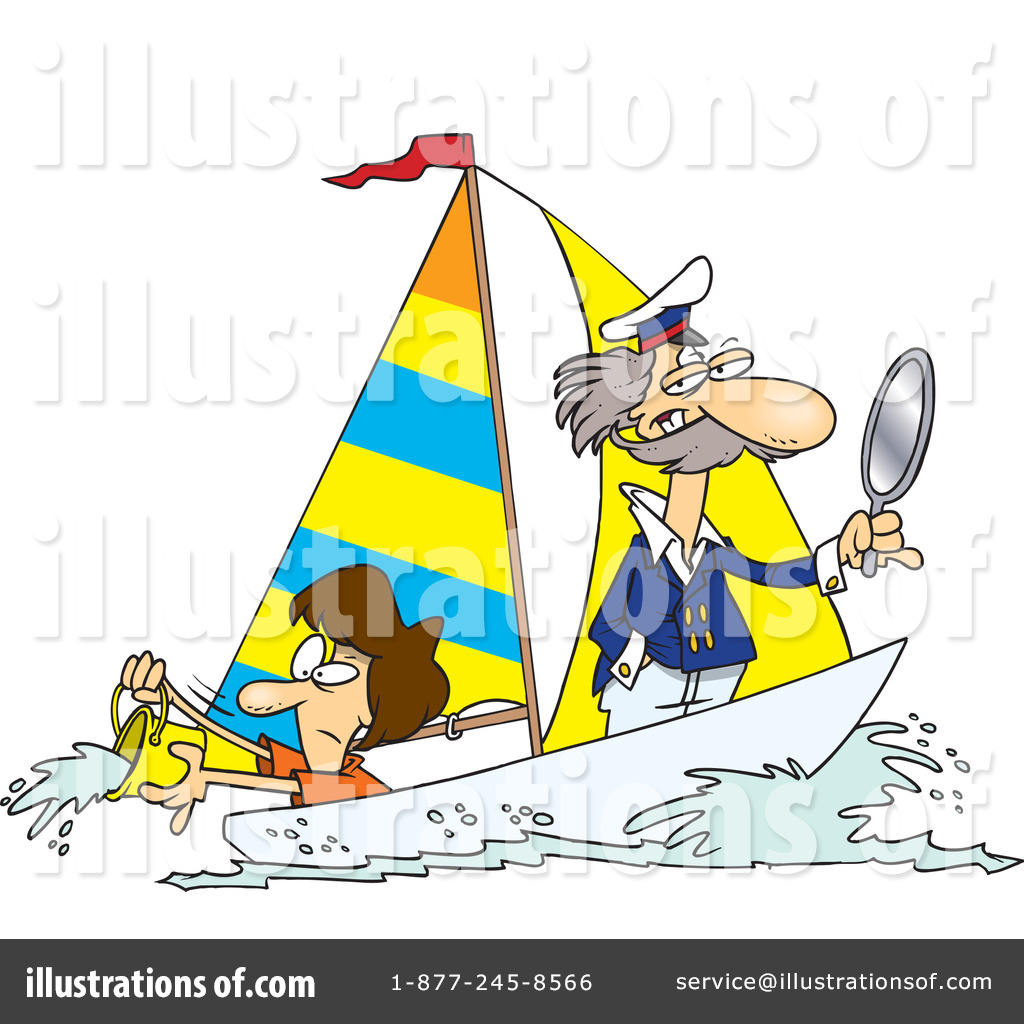 Sailing Clipart #1046852 - Illustration by toonaday