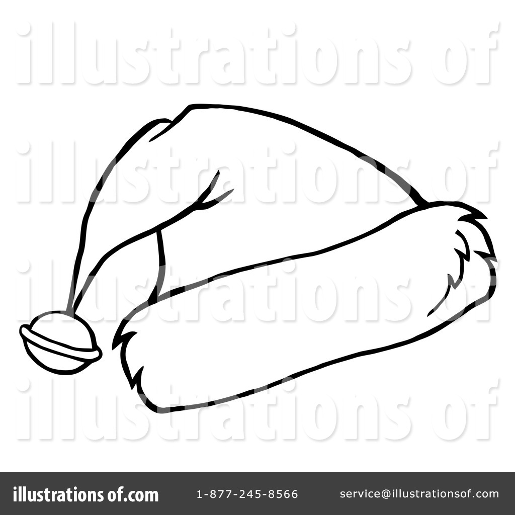 Black And White Santa Hat Clip Art | New Calendar Template Site
