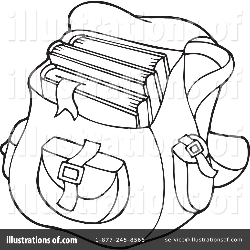 Coloring book bag - Royalty Free Rf School Bag Clipart Illustration 231376 By Visekart