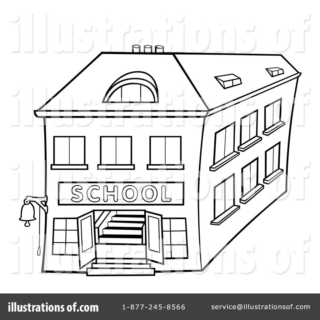 Line Drawing School : School clipart illustration by dero