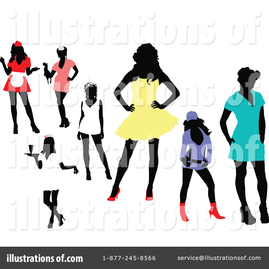 -Free (RF) Silhouette Clipart Illustration by leonid - Stock Sample