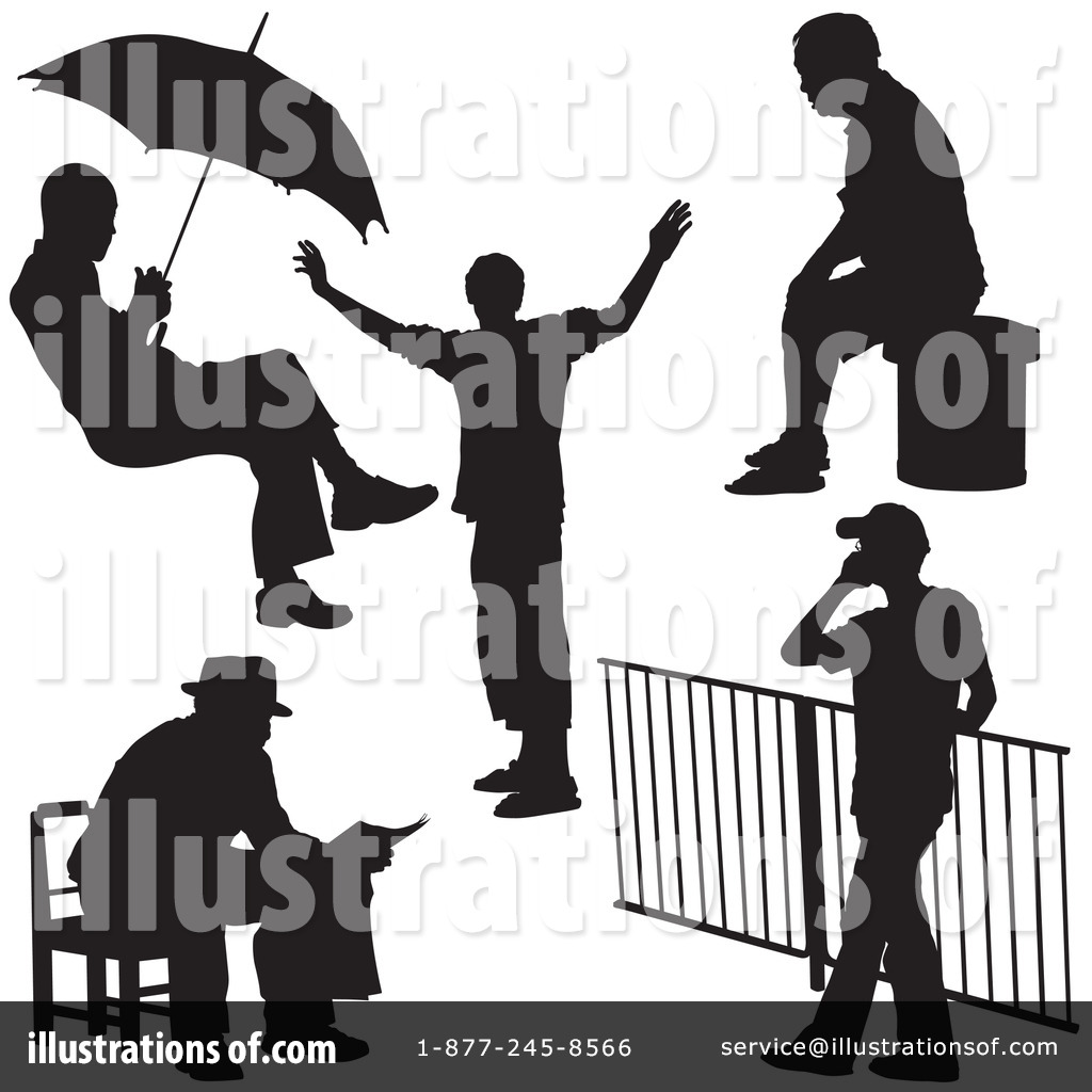 Royalty-Free (RF) Silhouettes Clipart Illustration by dero - Stock