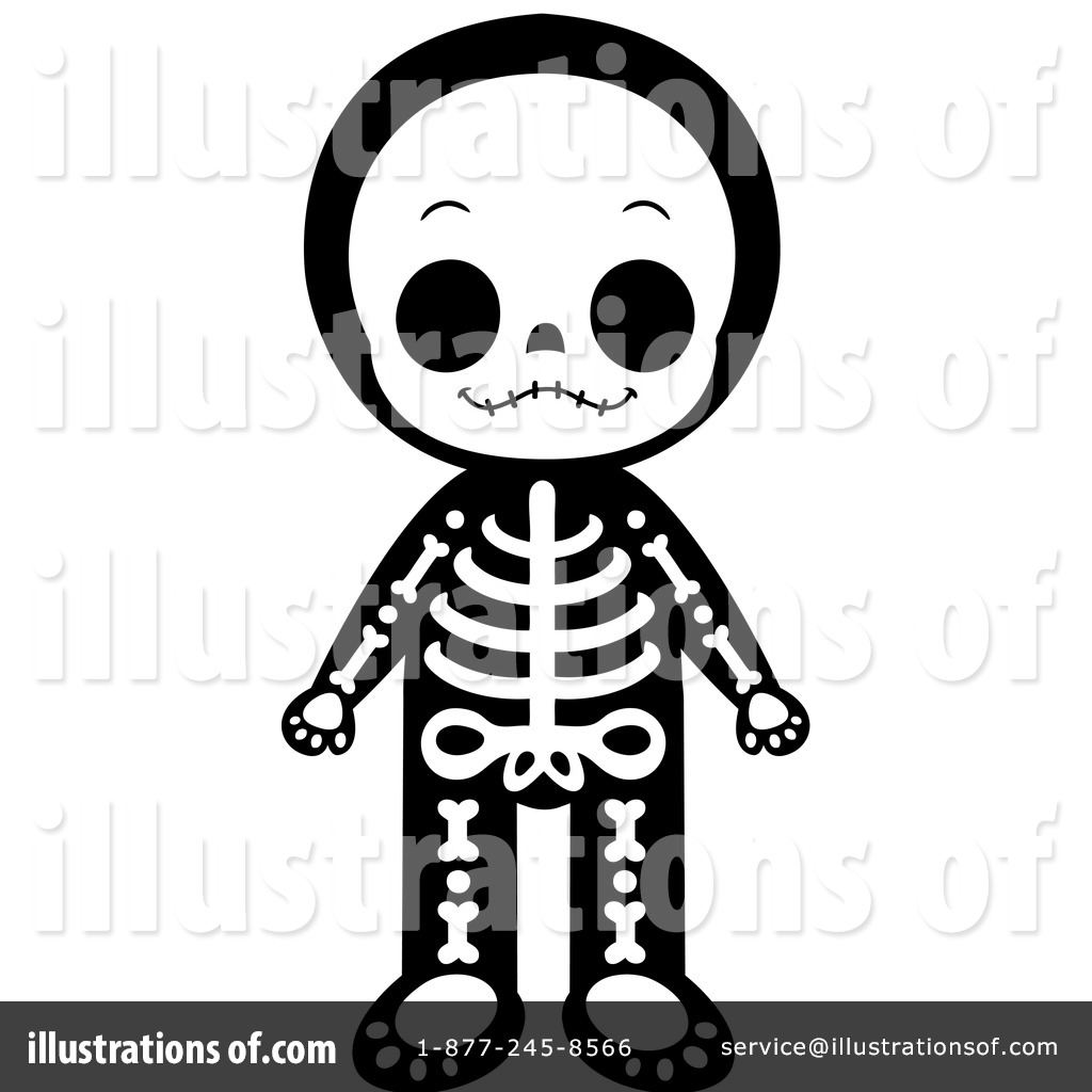 Royalty-Free (RF) Skeleton Clipart Illustration by Cartoon Character ...