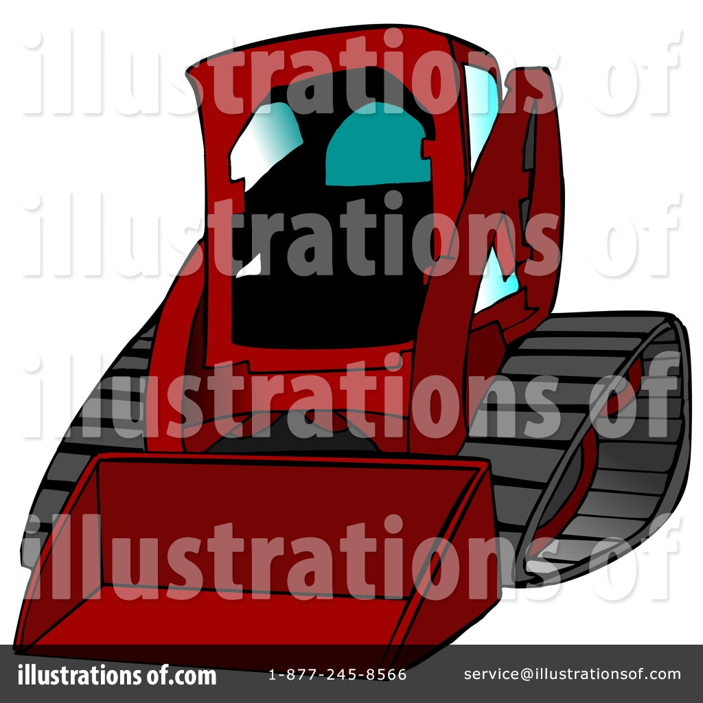 Royalty free rf skid loader clipart illustration 12953 by dennis