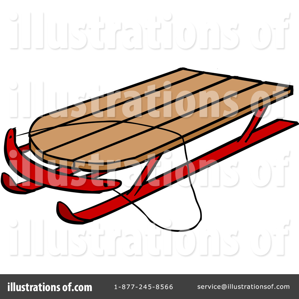 Royalty-Free (RF) Sled Clipart Illustration by Cartoon Solutions ...