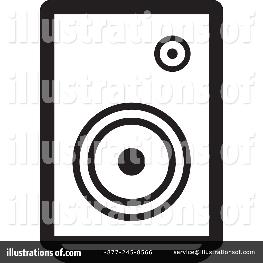 Speaker Clipart #1228865 - Illustration by Lal Perera