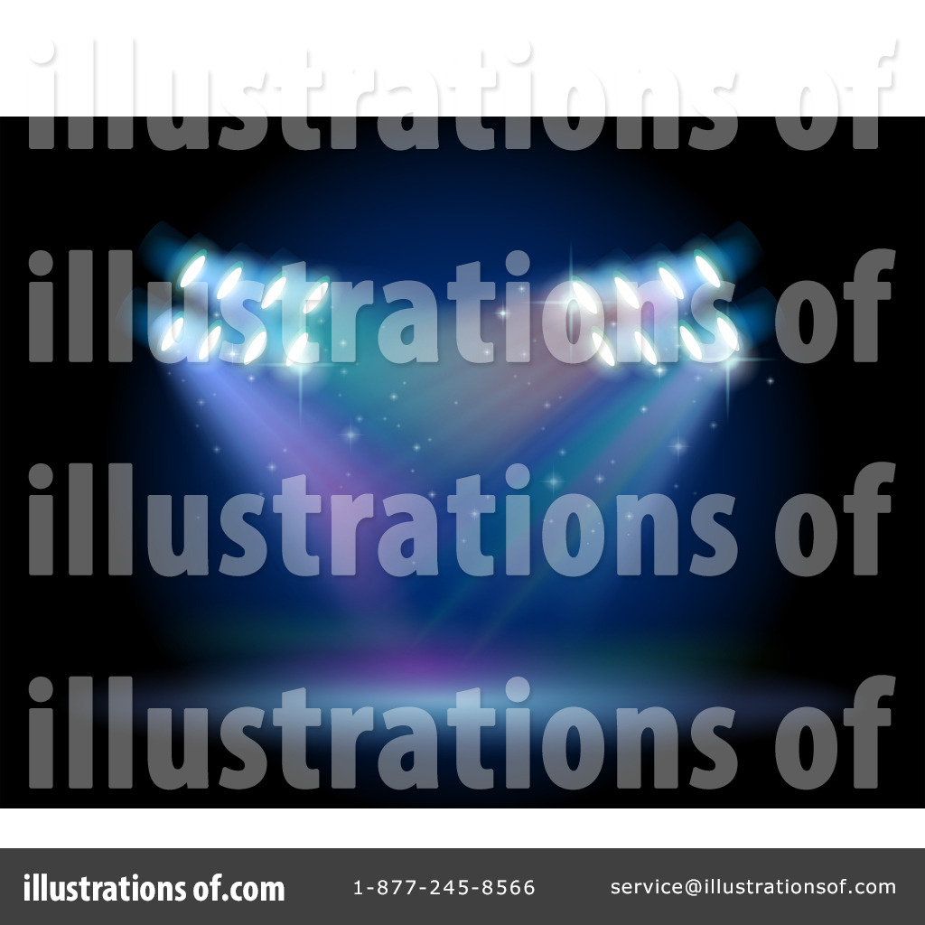 Royalty Free RF Stage Lighting Clipart Illustration By Graphics