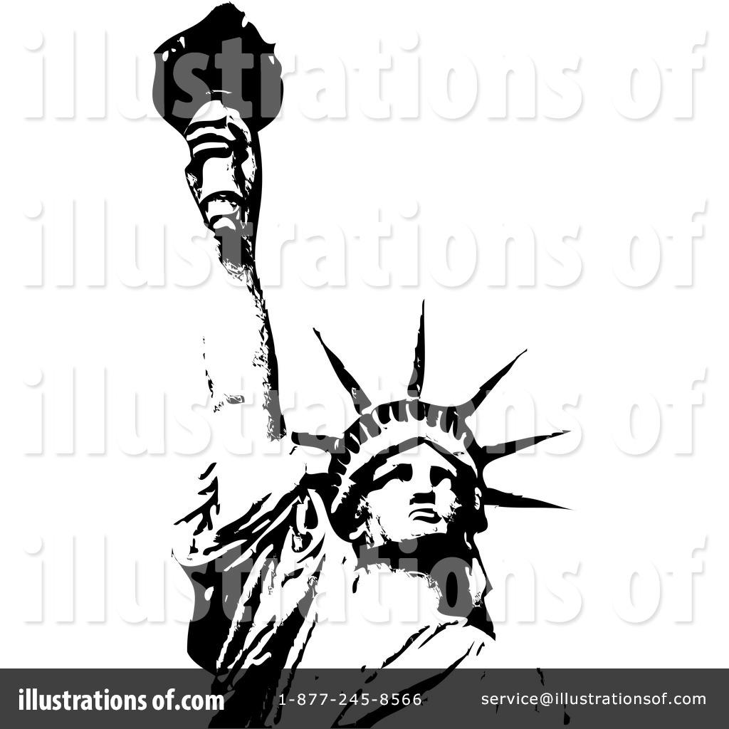 Nacirema Essay: Statue of Liberty Black and White Clip Art, Free ...