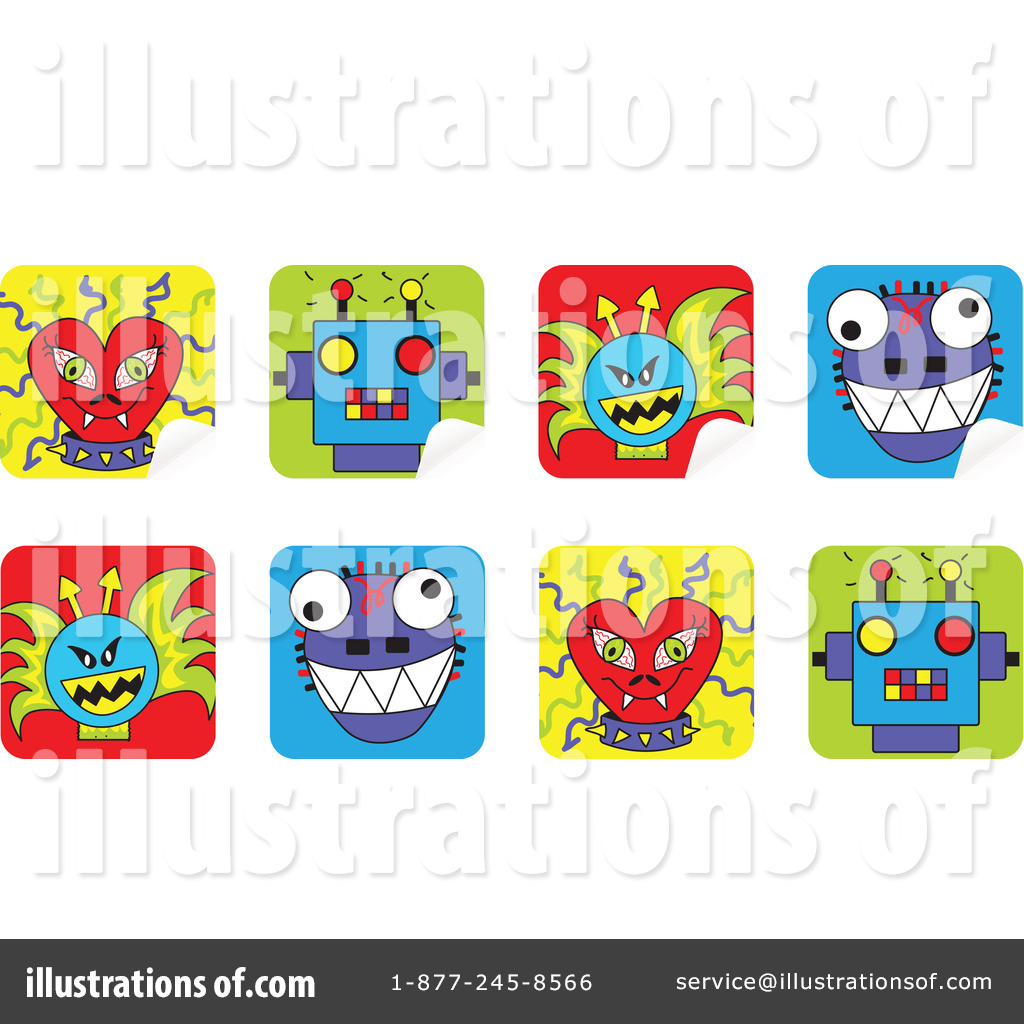 Stickers Clipart #72102 - Illustration by inkgraphics
