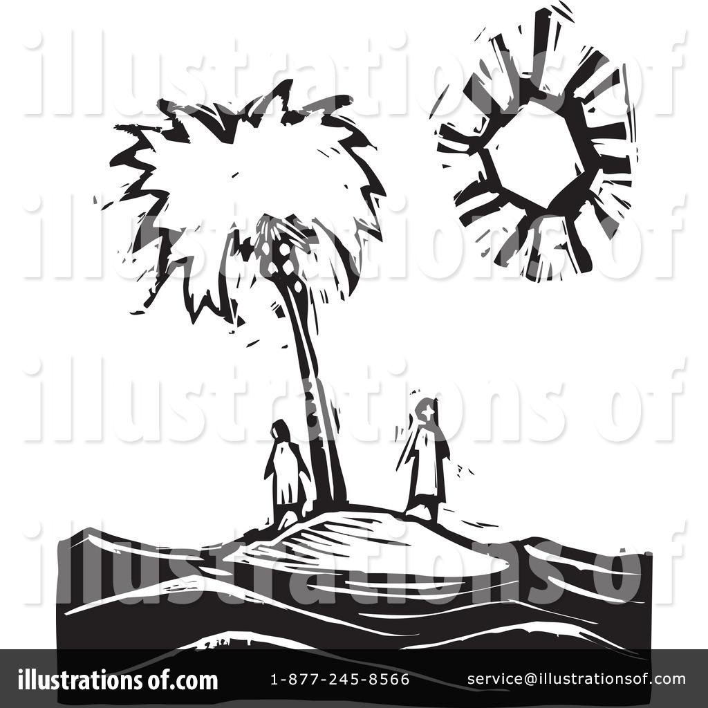 Island Clip Art Black and White