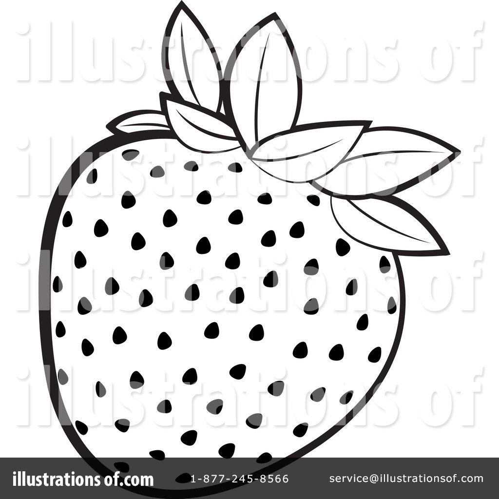 Strawberry Clipart #1155912 - Illustration by Lal Perera for Clipart Strawberry Black And White  111ane