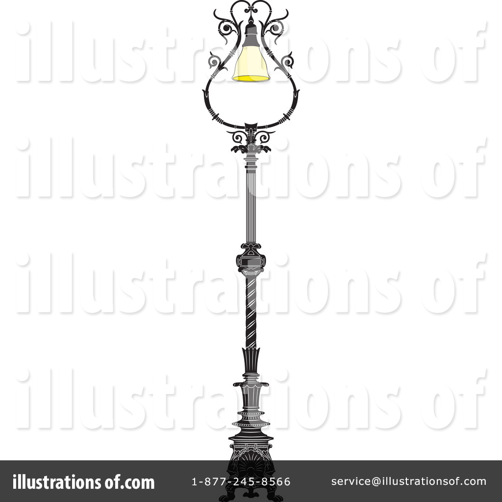 Street Lamp Clipart #44387 - Illustration by Frisko