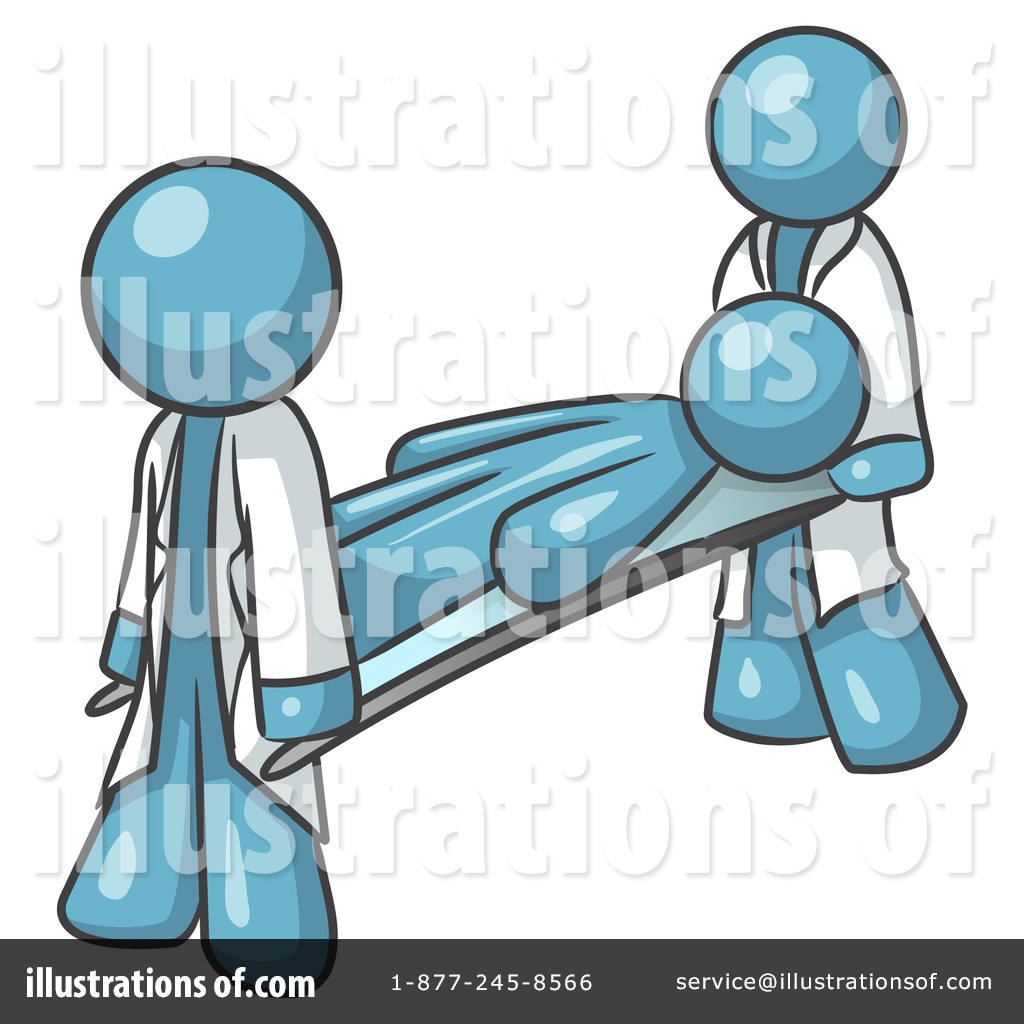 Stretcher Clipart #219961 - Illustration by Leo Blanchette