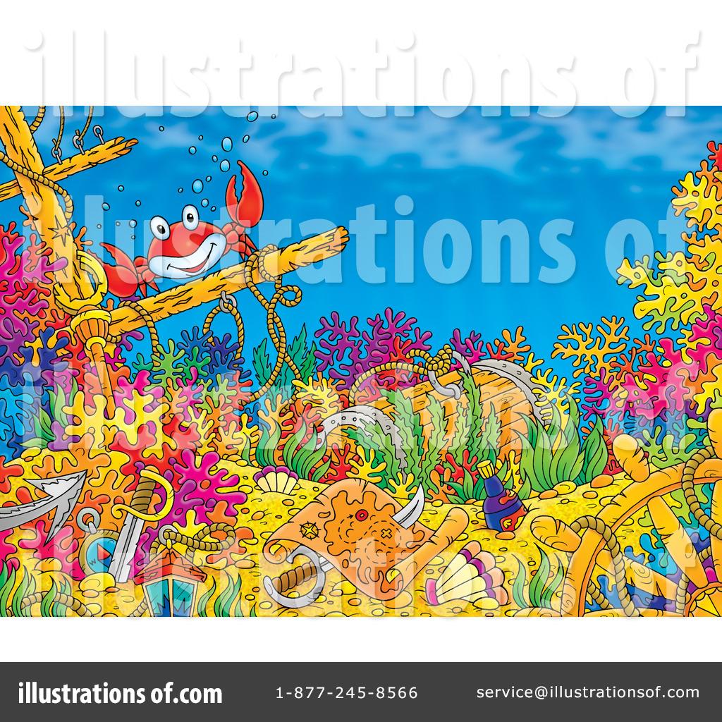 Vector Stock - Octopus with sunken treasure vector. Clipart Illustration  gg66131289 - GoGraph