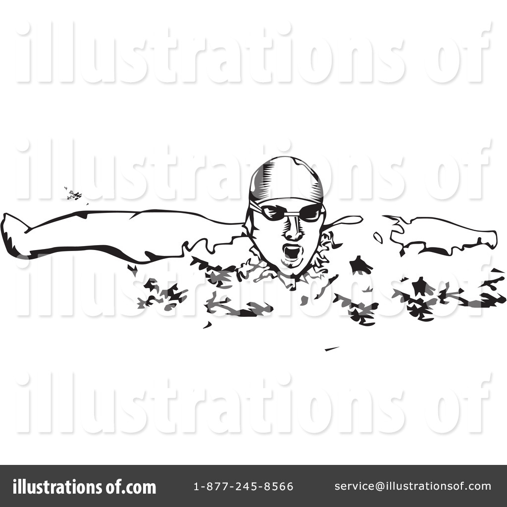 Swimming clipart black and white  Swimming Clipart #31034 - Illustration by David Rey