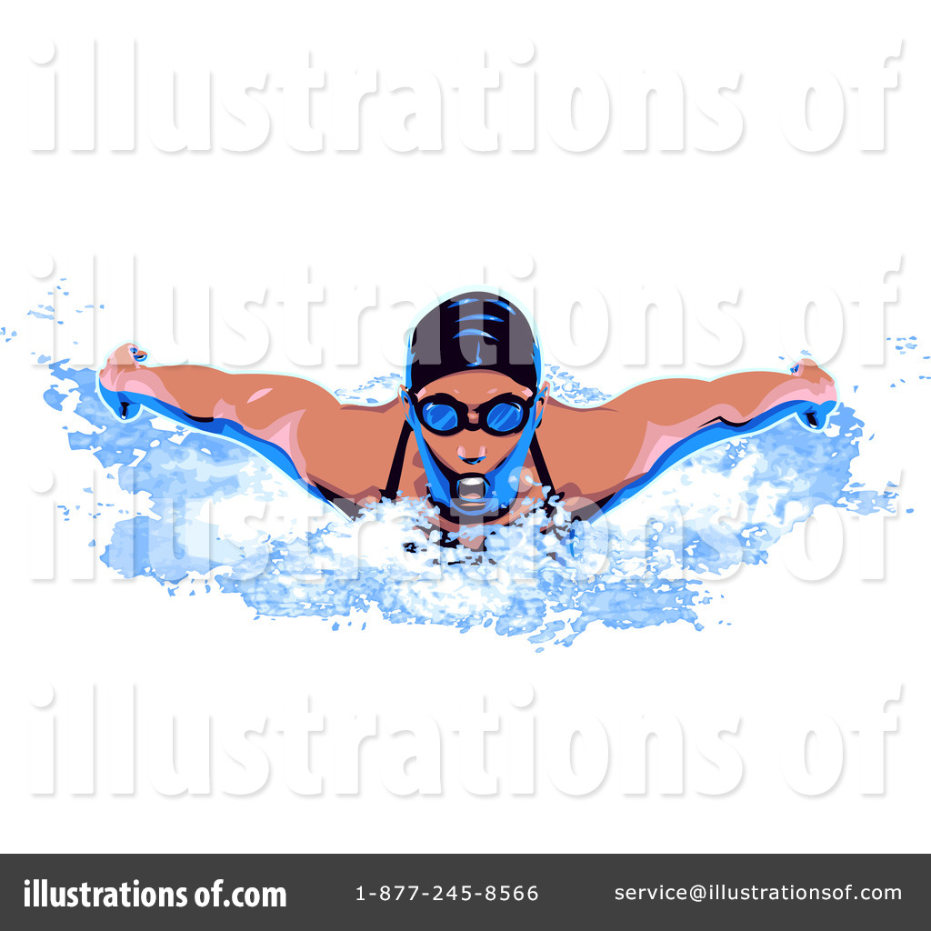 Swimming Clipart #39000 - Illustration by Tonis Pan