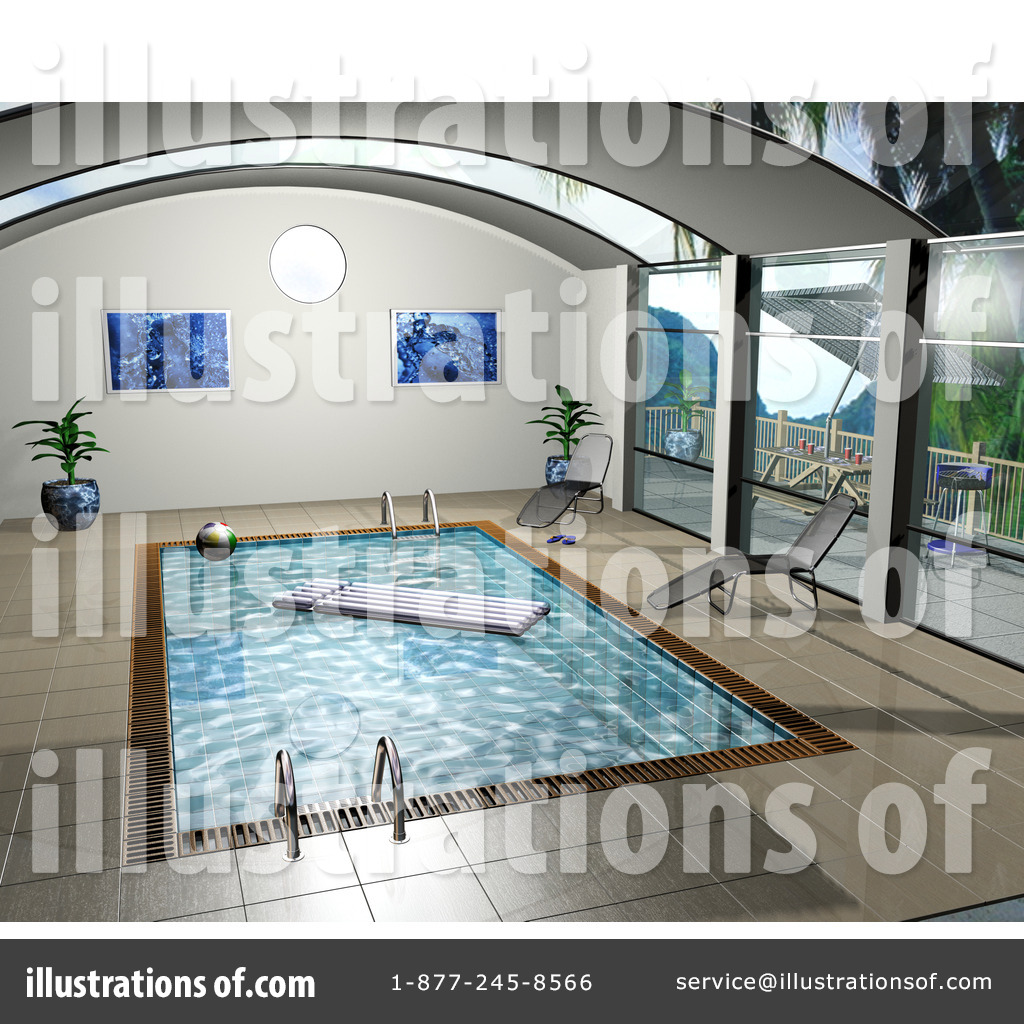 Swimming Pool Clipart Illustration by KJ Par er