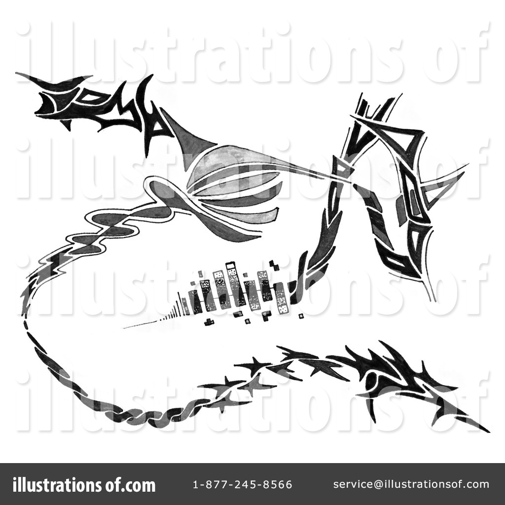 Royalty free rf tattoo clipart illustration 86637 by arena creative