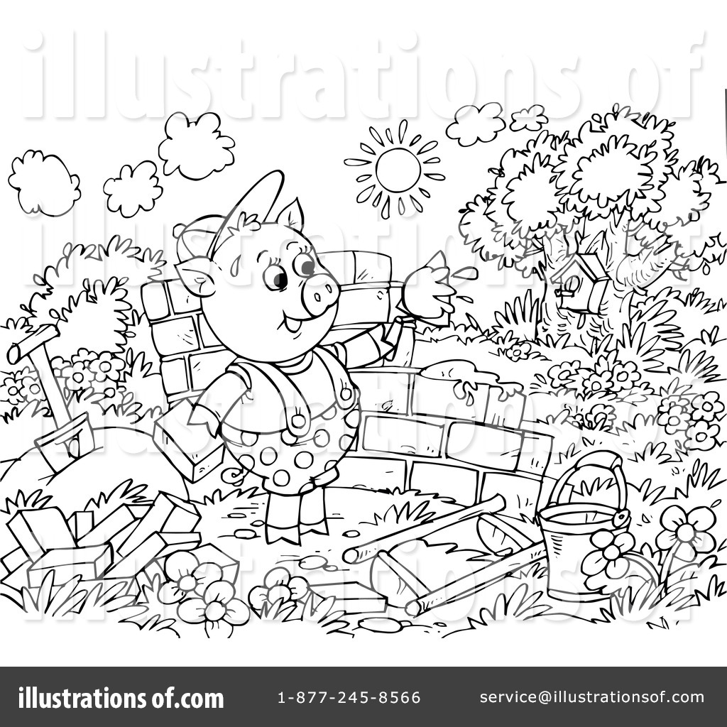 straw house coloring pages - photo#30