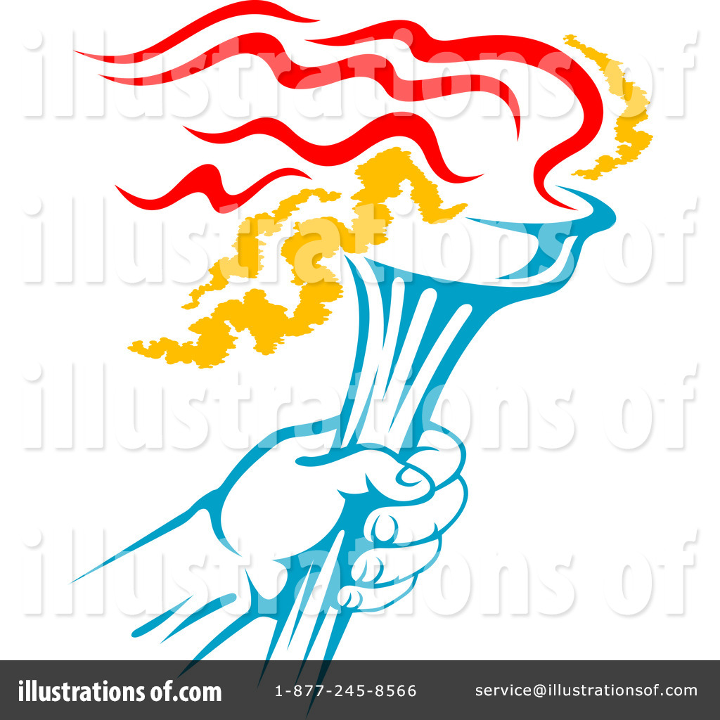 Torch Clipart #1105974 - Illustration by Vector Tradition SM for Sports Torch Clipart  61obs