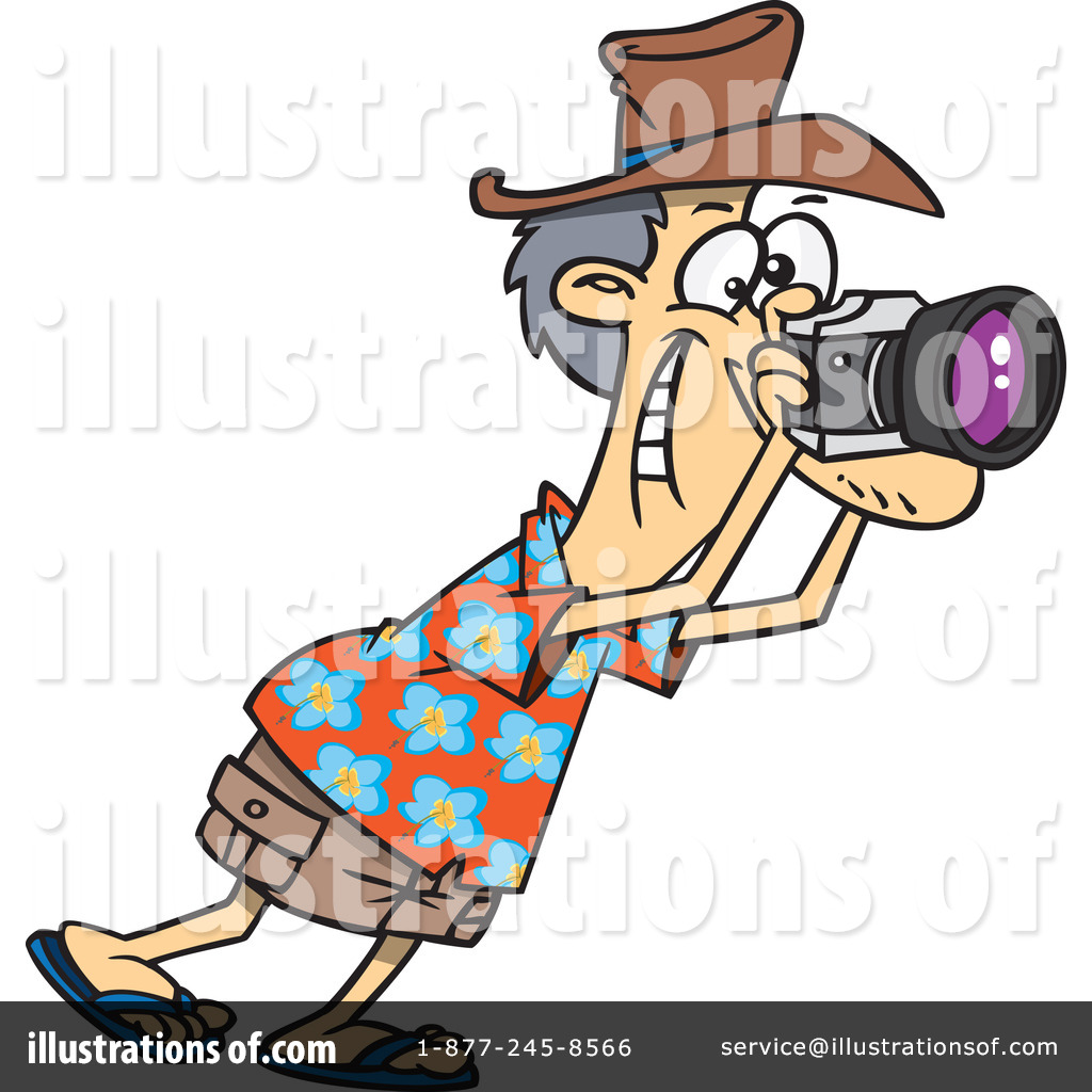 Royalty-Free (RF) Tourist Clipart Illustration by Ron Leishman - Stock ...