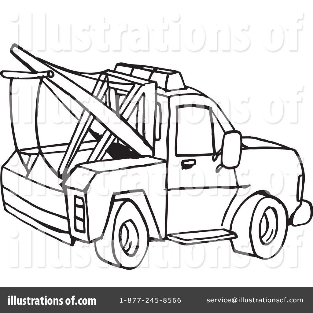Tow Truck Clipart 1110503 Illustration