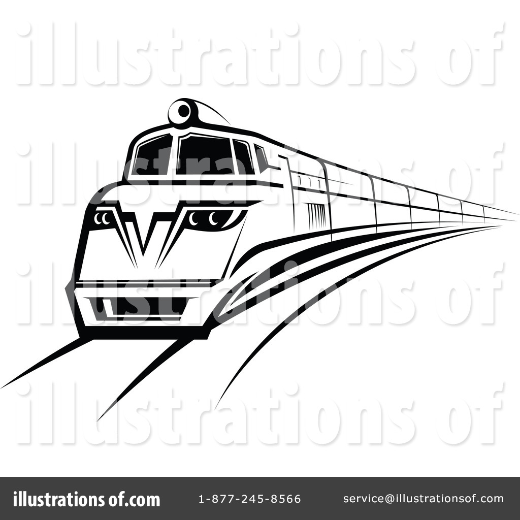 electric train clipart black and white - photo #28