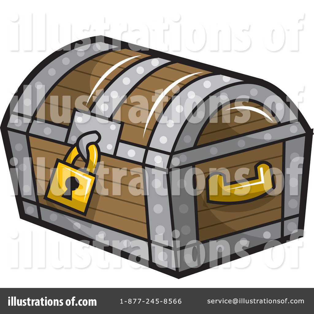 Treasure Chest Clipart #1077889 - Illustration by jtoons
