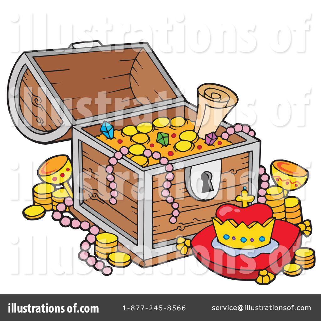 Treasure Chest Clipart Illustration By Visekart Stock Sample 213096 ...