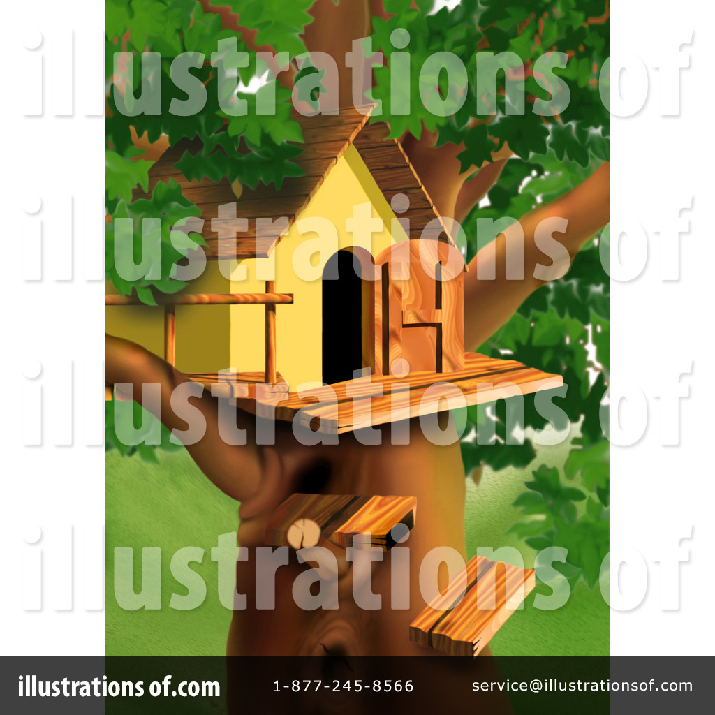 Tree House Clipart #38783 - Illustration by dero
