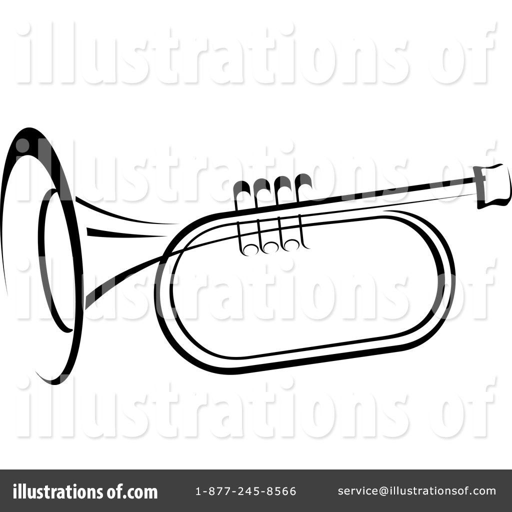 Trumpet Clipart #1235790 - Illustration by Vector Tradition SM
