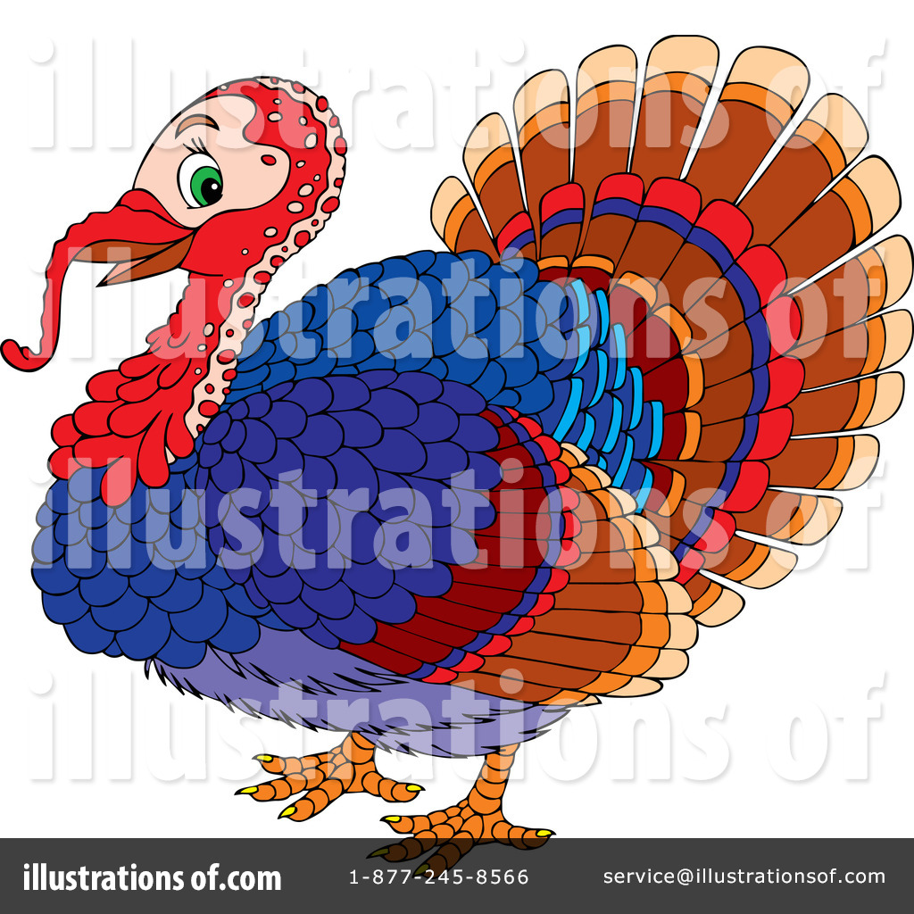 Tom Turkey Clip Art (rf) turkey bird clipart