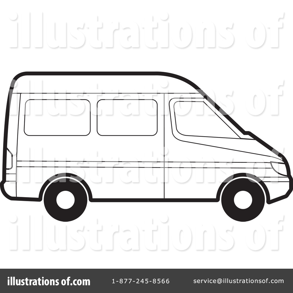 van black and white clipart - photo #16