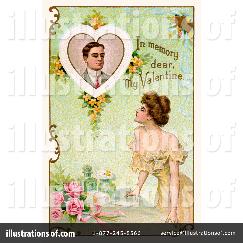 Victorian Valentine Clipart #28870 - Illustration by OldPixels