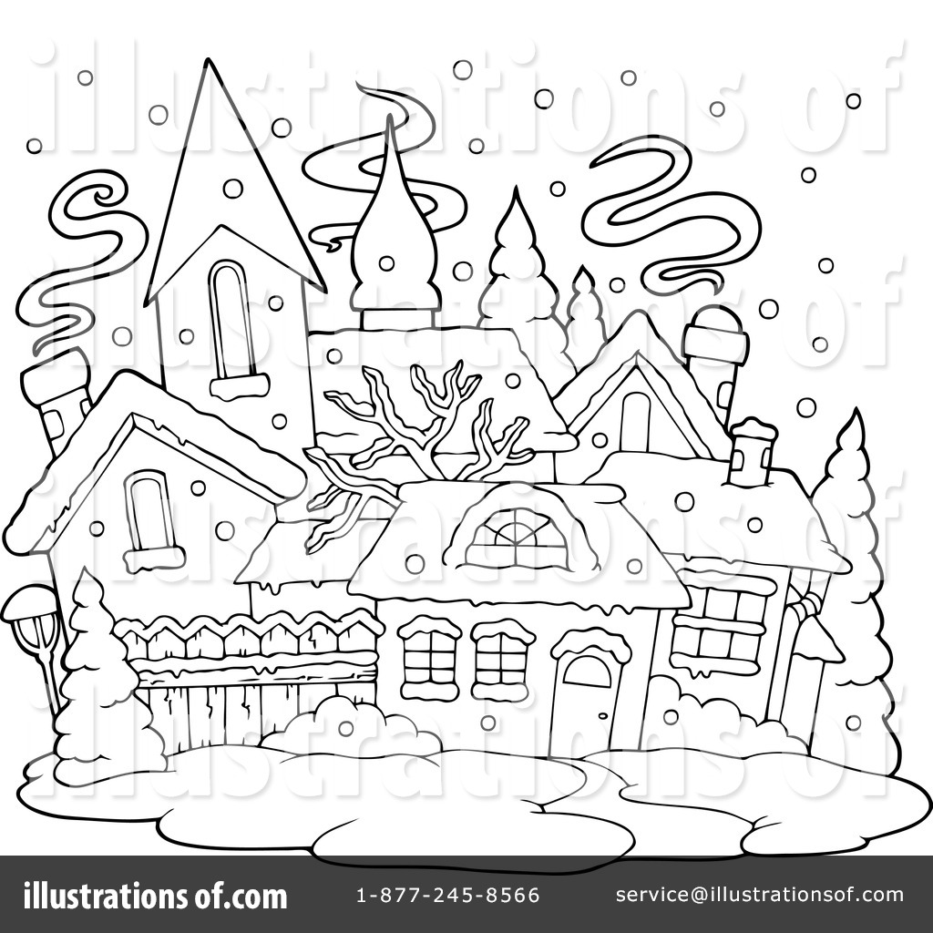 Clip Art Christmas Village Coloring Pages christmas village coloring pictures google twit clipart 1135334 ilration by visekart colouring cards